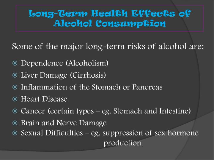 Long-Term Health Effects of Alcohol Consumption