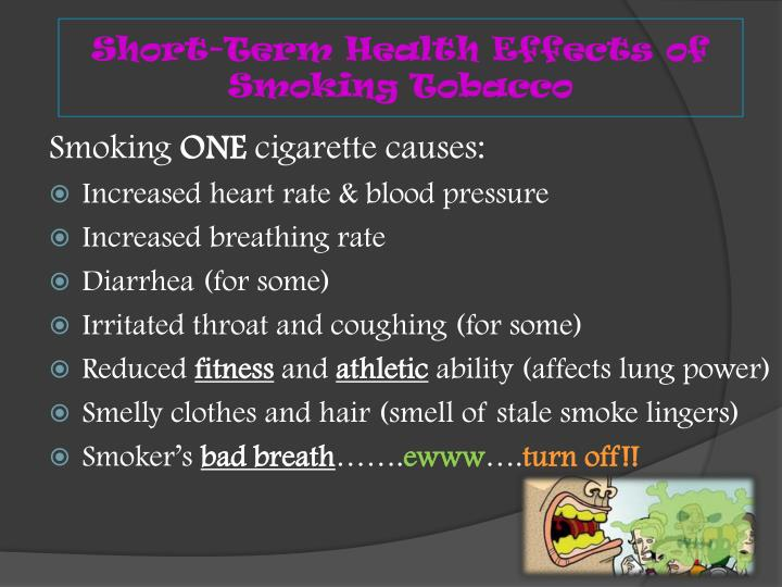 Short-Term Health Effects of Smoking Tobacco