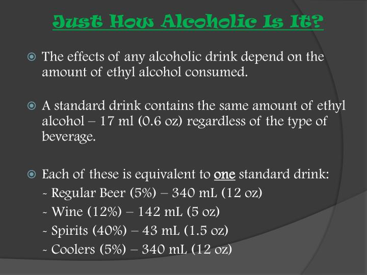 Just How Alcoholic Is It?