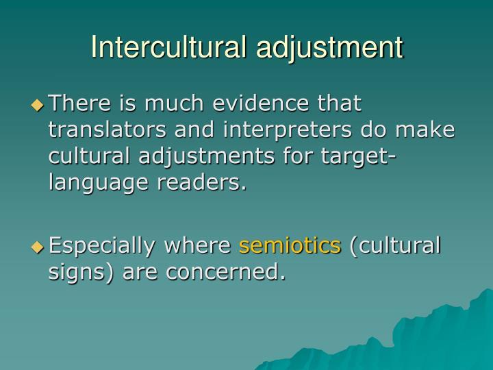 Intercultural adjustment