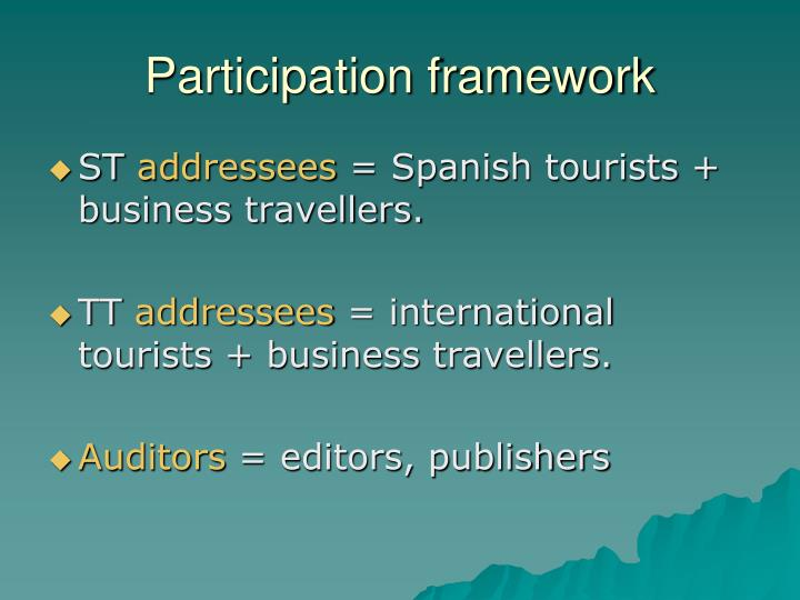 Participation framework