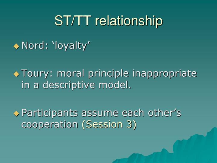 ST/TT relationship