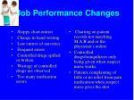 job performance changes