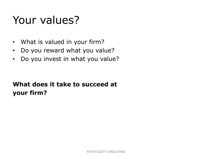 Your values?
