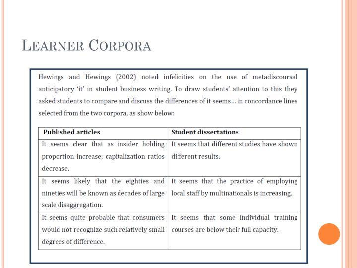 Learner Corpora