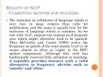 reality of not clarifying motives for teaching2