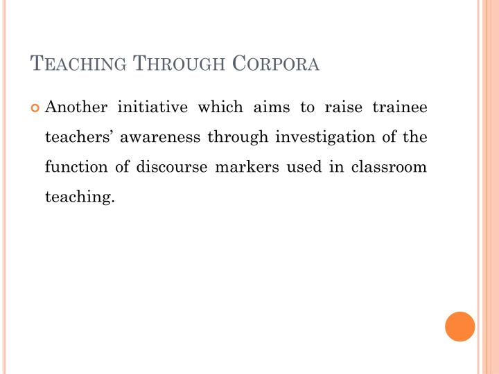 Teaching Through Corpora