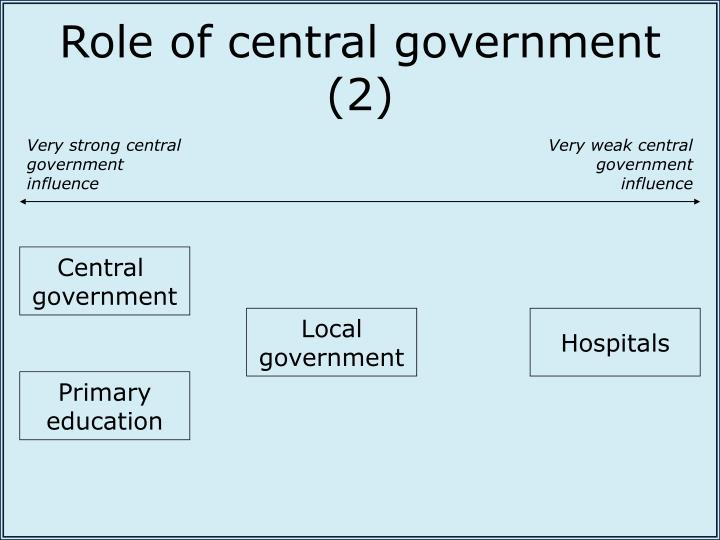 Role of central government (2)