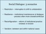 social dialogue 3 scenarios