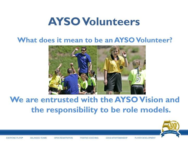 AYSO Volunteers
