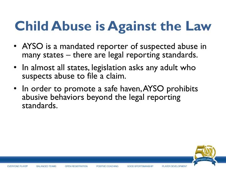 Child Abuse is Against the Law