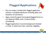 flagged applications3