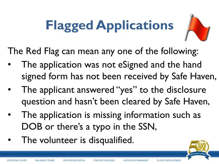 Flagged Applications