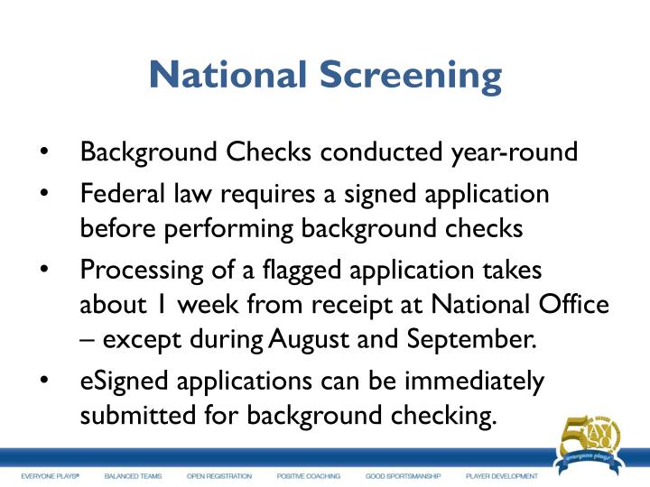 National Screening