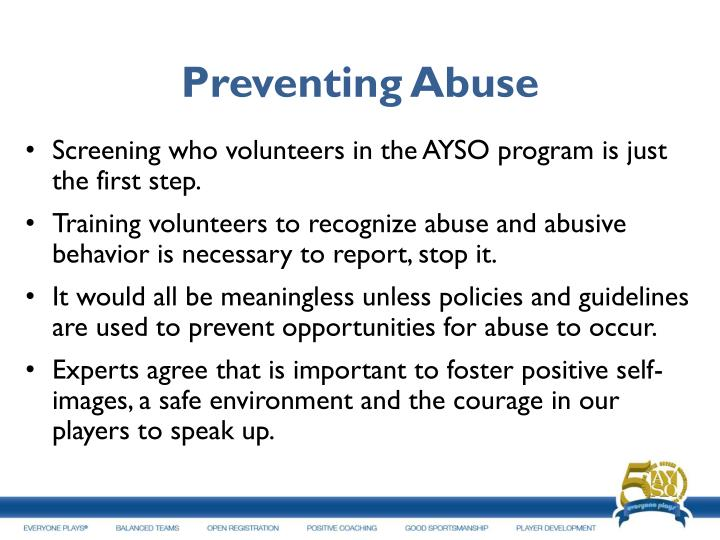 Preventing Abuse