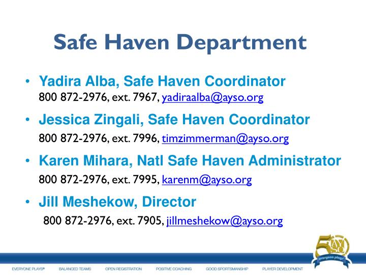 Safe Haven Department