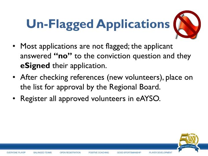 Un-Flagged Applications