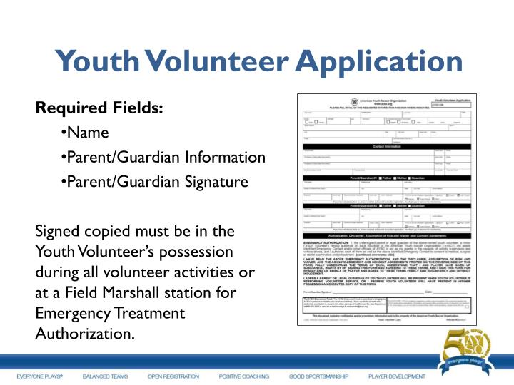 Youth Volunteer Application