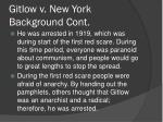 gitlow v new york background cont