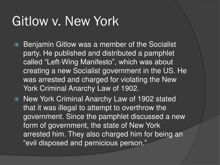 Gitlow v. New York