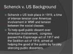 schenck v us background