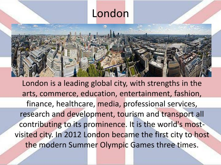 Fashion Capital London Ppt
