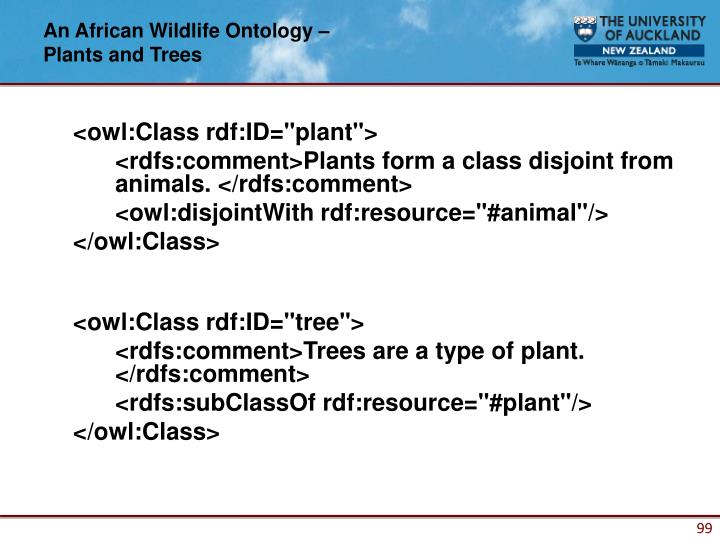 An African Wildlife Ontology –