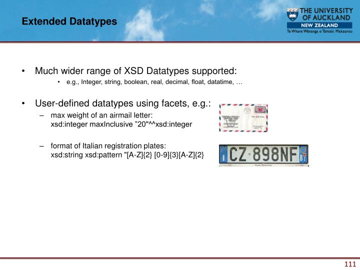 Extended Datatypes
