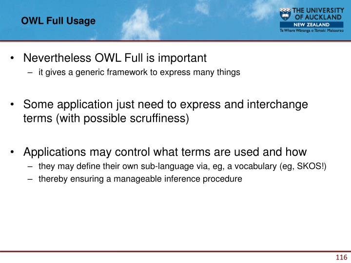 OWL Full Usage