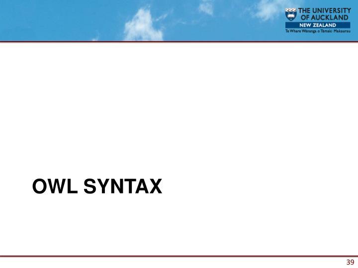 OWL SYNTAX