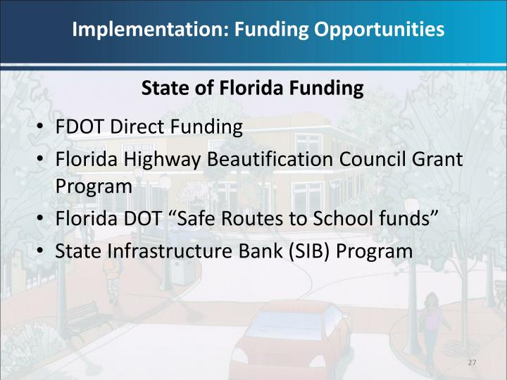 Implementation: Funding Opportunities
