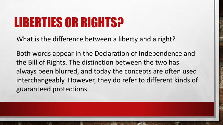 Liberties or rights?