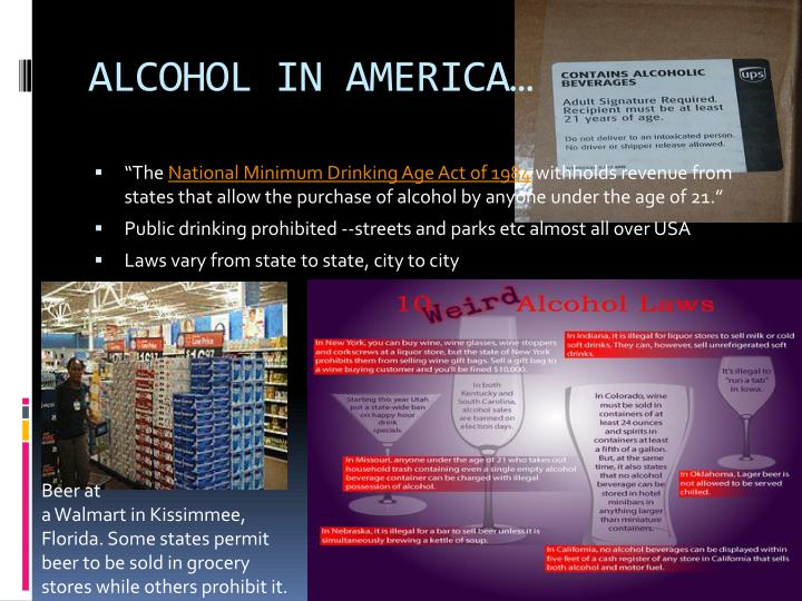 ALCOHOL IN AMERICA…