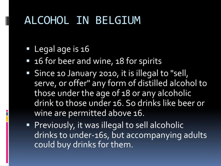 ALCOHOL IN BELGIUM