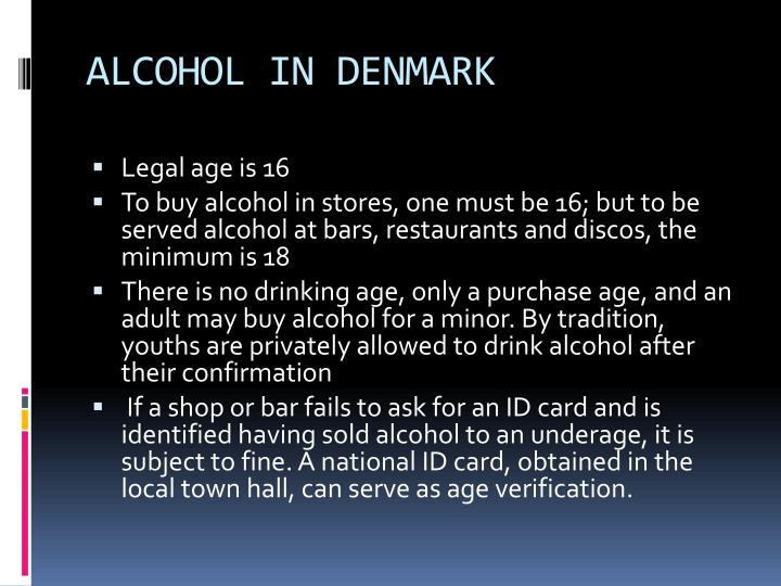 ALCOHOL IN DENMARK