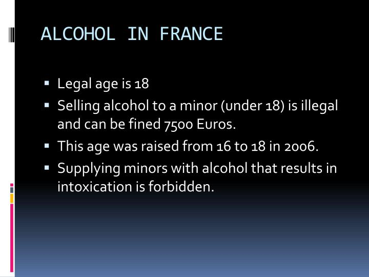 ALCOHOL IN FRANCE