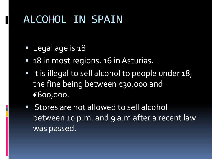 ALCOHOL IN SPAIN