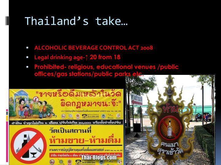 Thailand's take…