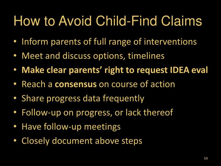 How to Avoid Child-Find Claims