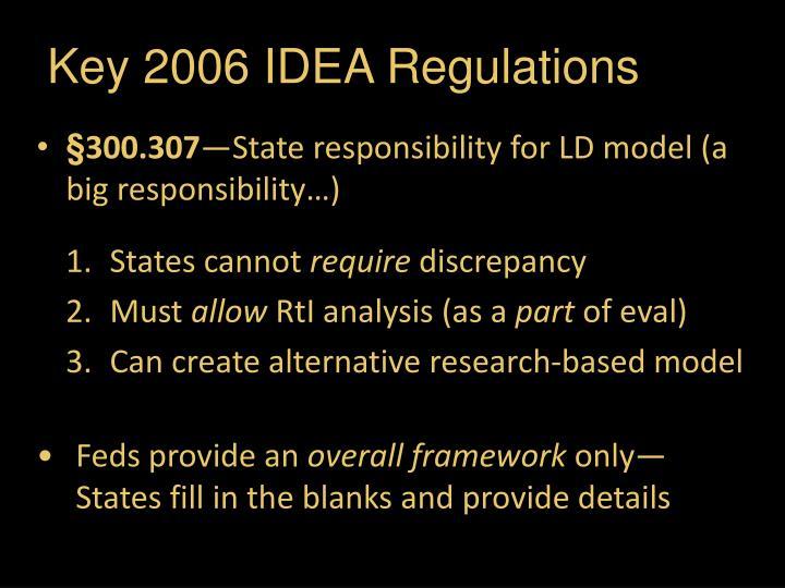 Key 2006 IDEA Regulations