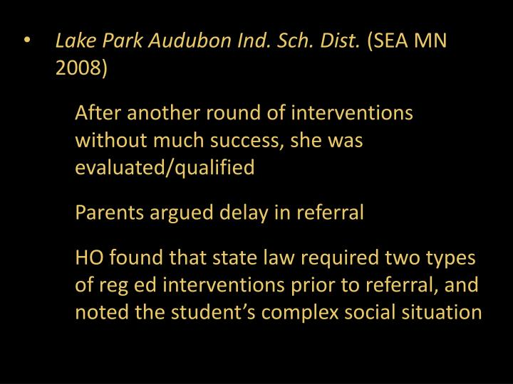 Lake Park Audubon Ind. Sch. Dist.