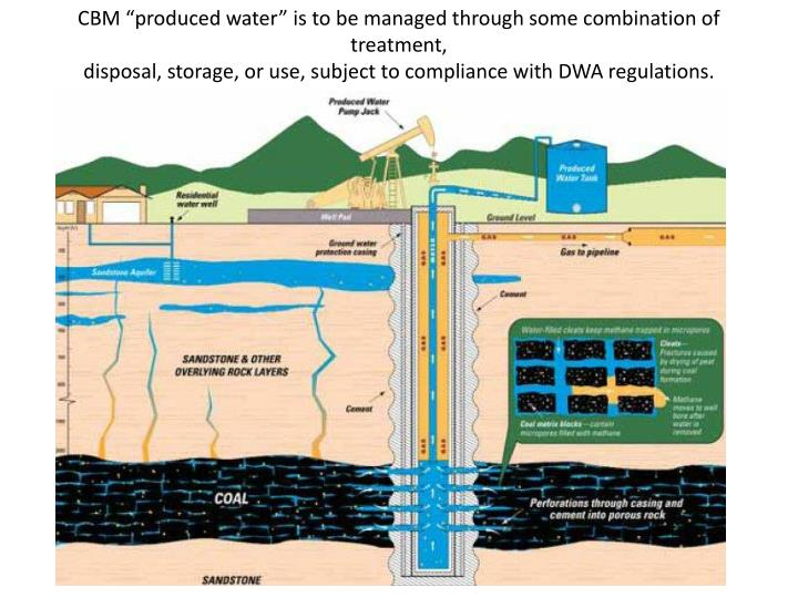 "CBM ""produced water"" is to be managed through some combination of treatment,"