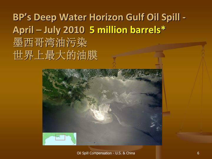 BP's Deep Water Horizon Gulf Oil Spill - April – July 2010