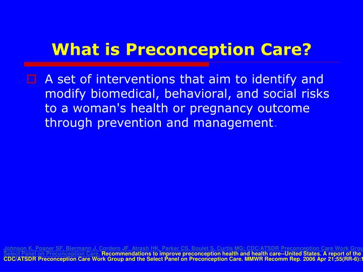 What is Preconception Care?