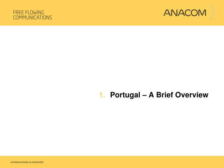 Portugal – A Brief Overview