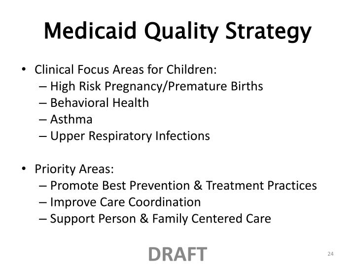 Medicaid Quality Strategy