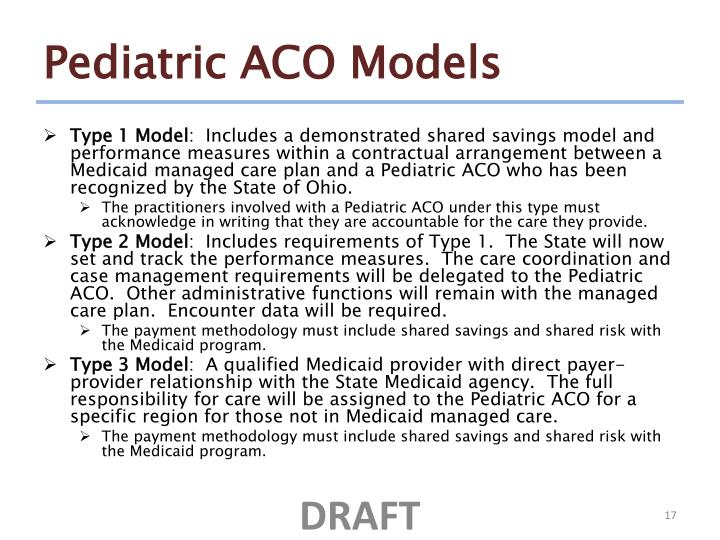 Pediatric ACO Models