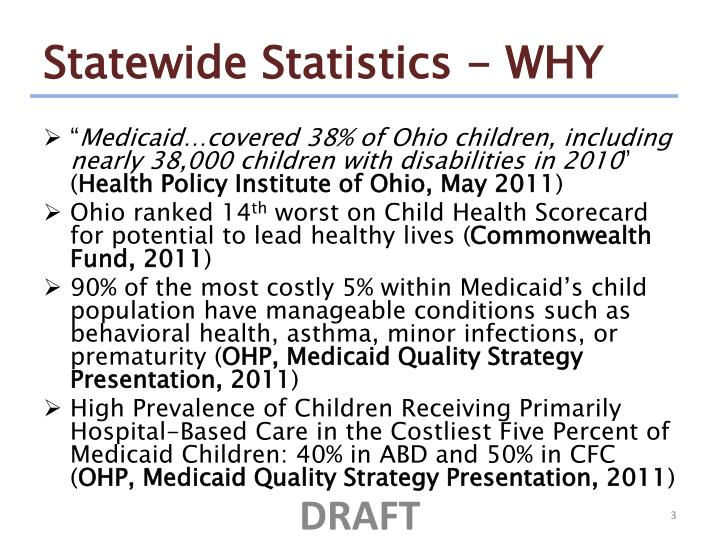 Statewide statistics why
