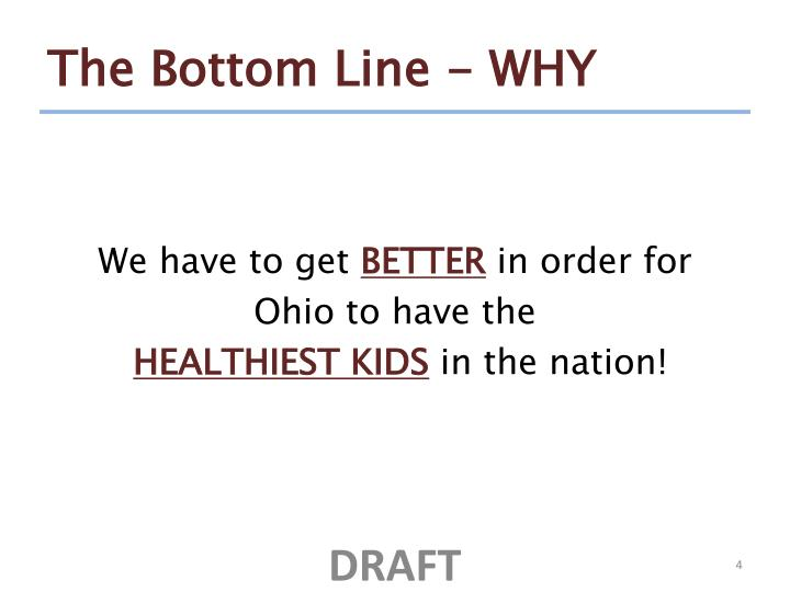 The Bottom Line - WHY