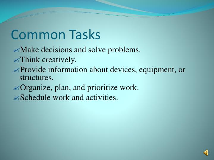 Common Tasks